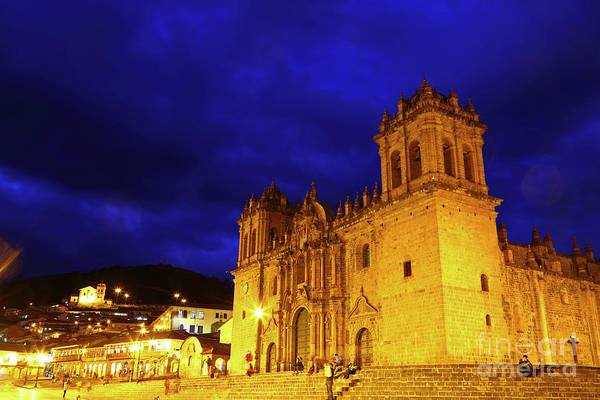 Photograph - Cusco Cathedral And Plaza De Armas Peru by James Brunker