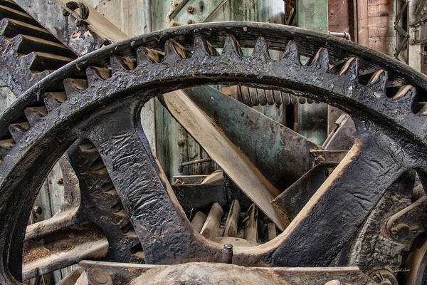 Photograph - Custer Dredge Gears 2 by Leland D Howard