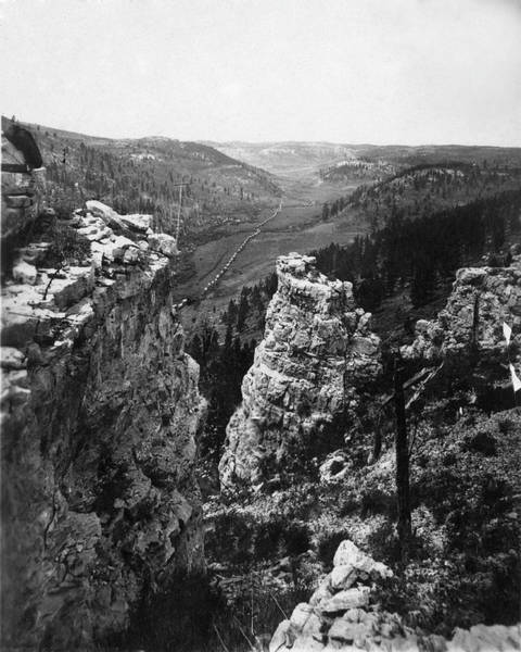 Exploration Photograph - Custers Expedition Into The Black Hills by The New York Historical Society