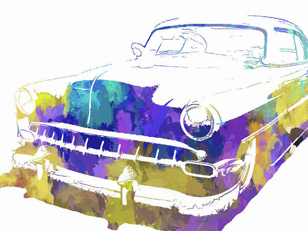 Digital Art - Custom 1954 Chevy Abs Inv by David King