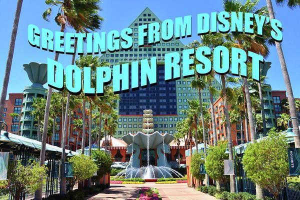 Wall Art - Photograph - Custom Card Disney's Dolphin Resort by David Lee Thompson