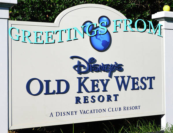 Wall Art - Photograph - Custom Card Of Disney's Old Key West Resort by David Lee Thompson