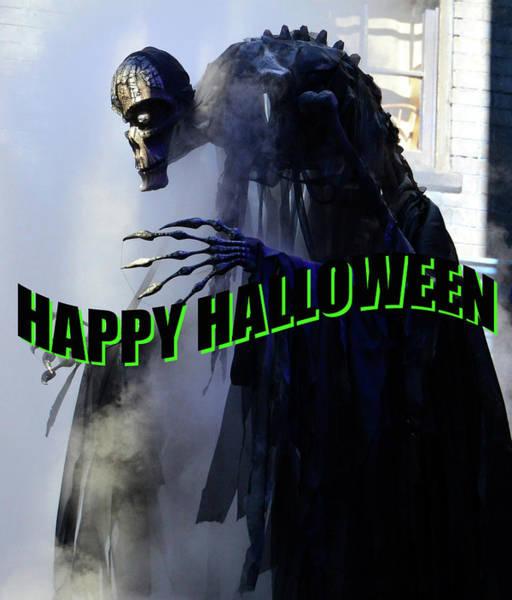 Wall Art - Photograph - Custom Halloween Card Black Death by David Lee Thompson