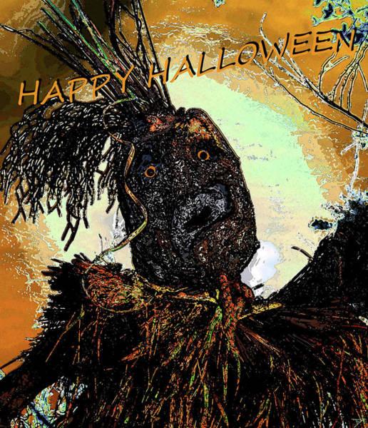 Wall Art - Painting - Custom Halloween Card The Harvester by David Lee Thompson