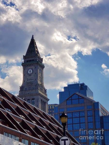 Photograph - Custom House Clock Tower by Mary Capriole