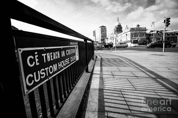 Wall Art - Photograph - custom house quay with a view of the custom house docklands Dublin republic of Ireland by Joe Fox