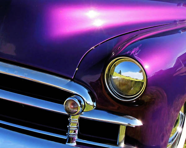 Photograph - Custom Purple Chevy by David King