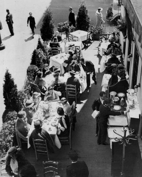 Customer Photograph - Customers Enjoying The Veranda Al by New York Daily News Archive