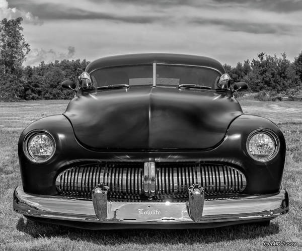 Photograph - Customized 1950 Mercury In Bw by Ken Morris