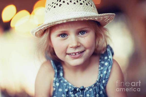 Wall Art - Photograph - Cute Little Girl by Anna Om