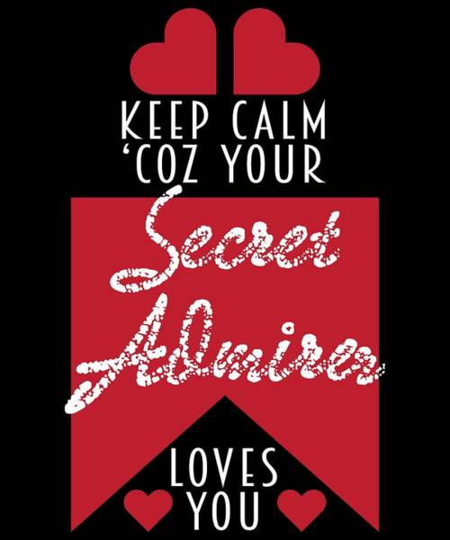 Moustache Mixed Media - Cute Lovely Admirer Tee Design Admirer Loves You by Roland Andres