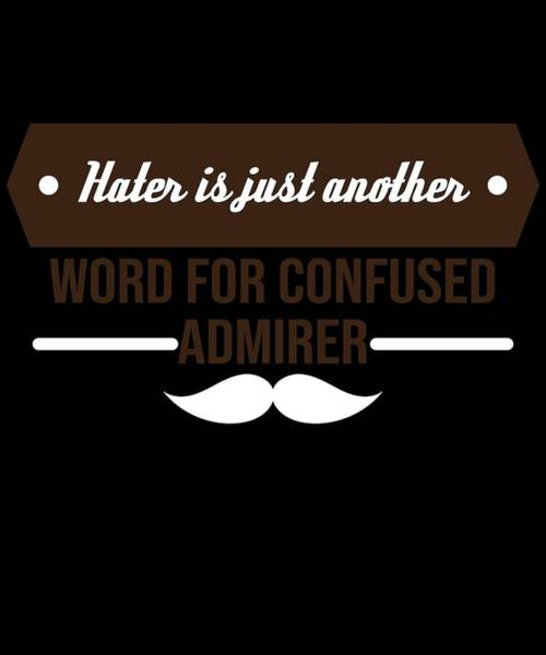 Moustache Mixed Media - Cute Lovely Admirer Tee Design Confused Admirer by Roland Andres