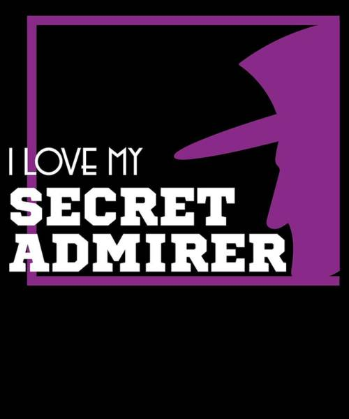 Moustache Mixed Media - Cute Lovely Admirer Tee Design I Love My Secret Admirer by Roland Andres