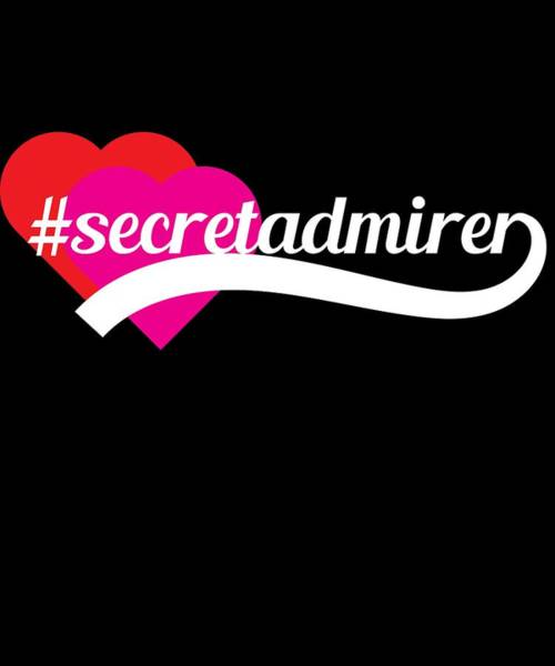 Moustache Mixed Media - Cute Lovely Admirer Tee Design Secret Admirer by Roland Andres