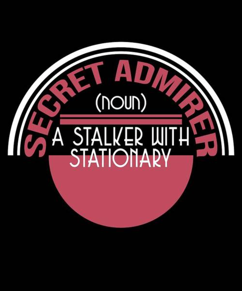 Moustache Mixed Media - Cute Lovely Admirer Tee Design Stalker by Roland Andres