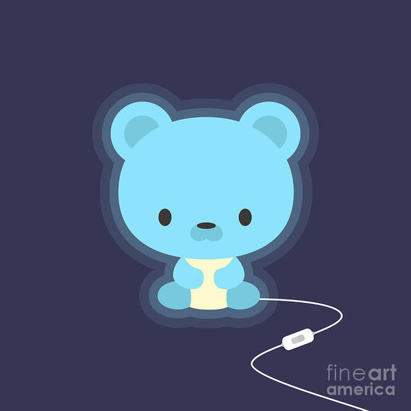 Baby Furniture Wall Art - Photograph - Cute Teddy Bear Night Light by Nadia Snopek