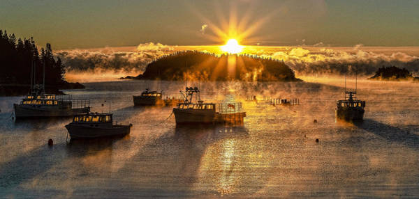 Photograph - Cutler Harbor Sea Smoke 1 by Marty Saccone