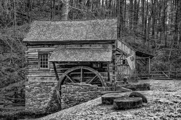 Wall Art - Photograph - Cuttalossa Mill In Black And White by Bill Cannon