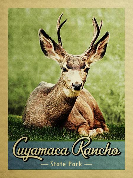 Wall Art - Digital Art - Cuyamaca Rancho State Park Vintage Deer by Flo Karp