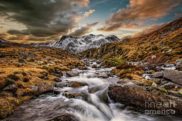 Wall Art - Photograph - Cwm Idwal Snowdonia Sunset by Adrian Evans