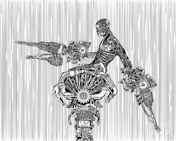 Wall Art - Digital Art - Cyborg War by Ryger