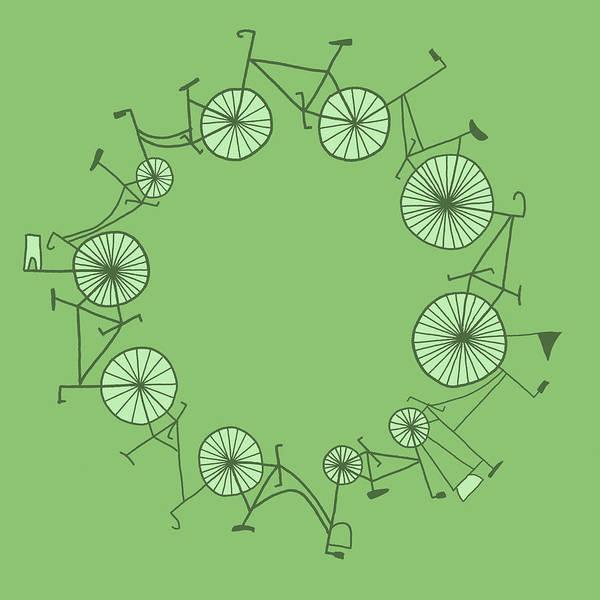 Illustration Digital Art - Cycle by Illustrations