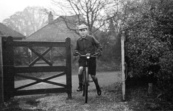 Arrival Photograph - Cycling Home by Kurt Hutton