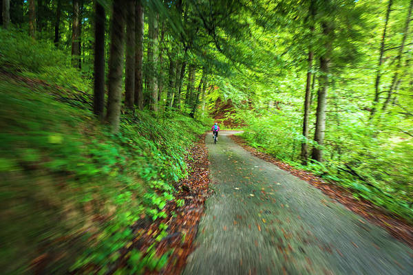 Wall Art - Photograph - Cyclist Exploring The Backroads by Russ Bishop