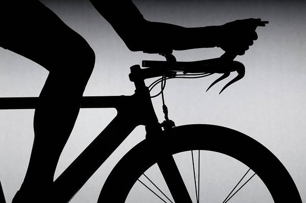 Bicycle Photograph - Cyclist With Time Trial Bicycle by Romilly Lockyer