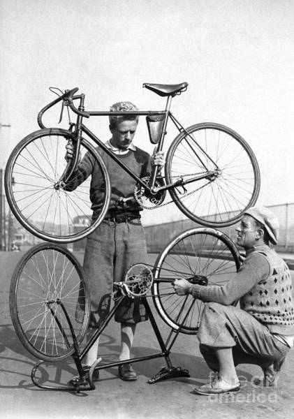 New Jersey Photograph - Cyclists Bobby Walthour Left And Reggie by New York Daily News Archive