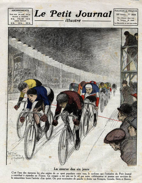 Cyclists Piet Van Kempen 1898-1985 Art Print