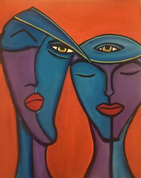 Painting - Twin Flame by Crystal Stagg