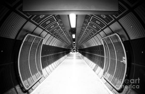 Steel Wall Art - Photograph - Cylindric Tunnel For Pedestrians by Jose As Reyes