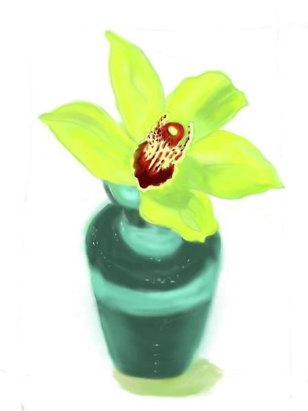 Painting - Cymbidium Orchid Flower by Jean Pacheco Ravinski