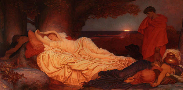 Wall Art - Painting - Cymon And Iphigenia, 1884 by Lord Frederic Leighton