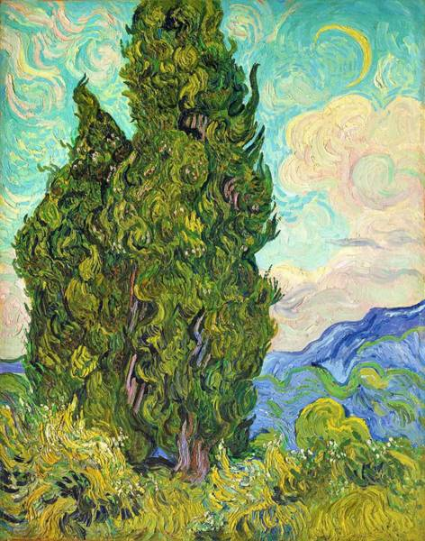 Wall Art - Painting - Cypresses - Digital Remastered Edition by Vincent van Gogh