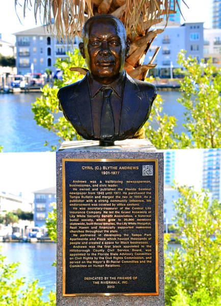 Blythe Photograph - Cyril Blythe Andrews Riverwalk Tampa by David Lee Thompson