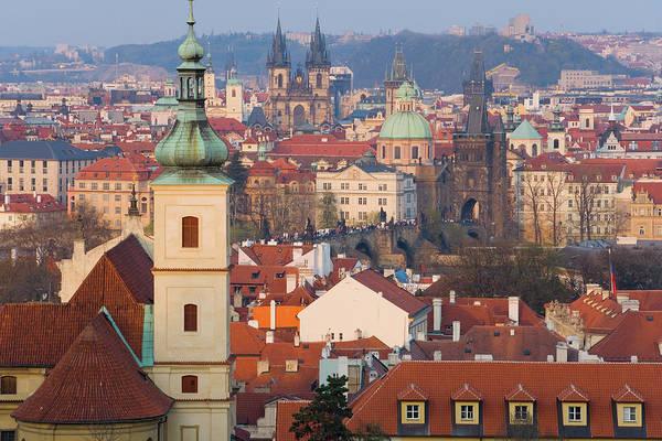 Old Photograph - Czech Republic, Prague, Old Town by Peter Adams