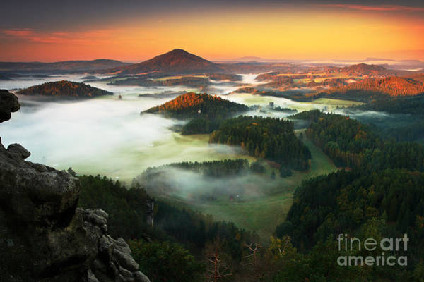 Wall Art - Photograph - Czech Typical Autumn Landscape. Hills by Ondrej Prosicky
