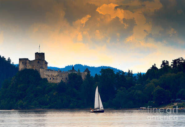 Sail Wall Art - Photograph - Czorsztyskie Lagoon Castle Niedzica - by Wojciech Lisinski