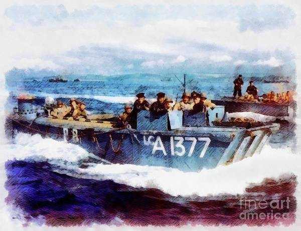 Wall Art - Painting - D-day, Operation Overlord by John Springfield