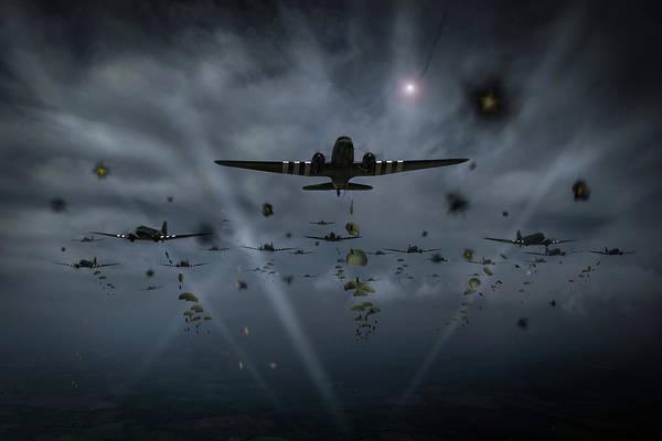 Photograph - D-day Paratroop Dakotas by Gary Eason
