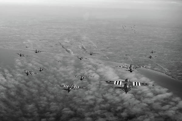 Photograph - D-day Stirlings And Gliders Bw Version by Gary Eason