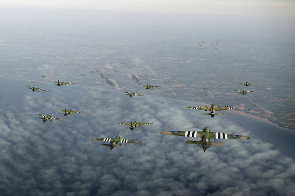 Photograph - D-day Stirlings And Gliders by Gary Eason