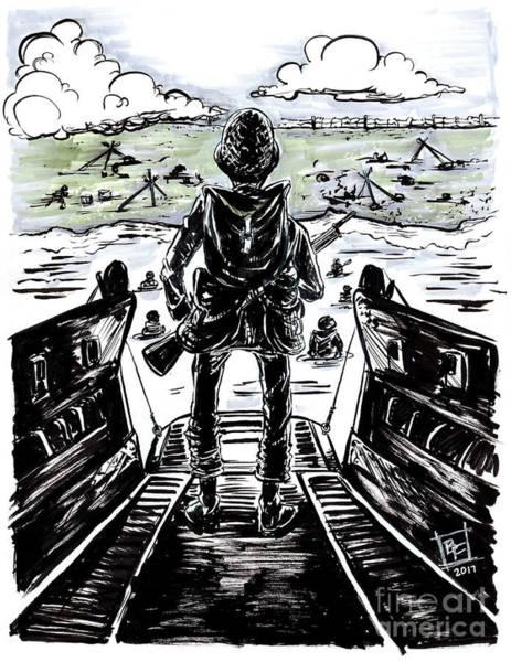 D-day World War 2 Soldier Art Print