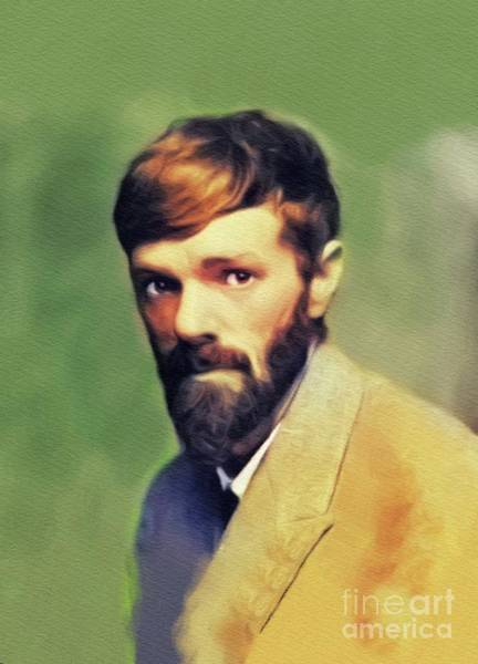 Wall Art - Painting - D. H. Lawrence, Literary Legend by John Springfield