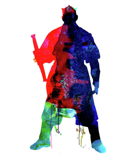 Movie Poster Mixed Media - D Maul Watercolor 1 by Naxart Studio
