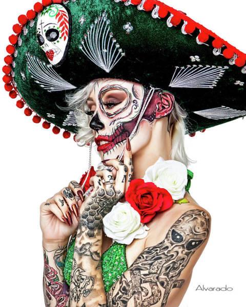 Dod Digital Art - D O D Half Face by Robert Alvarado