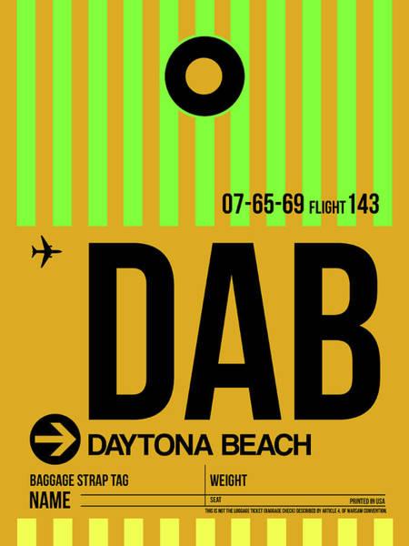 Wall Art - Digital Art - Dab Daytona Beach Luggage Tag I by Naxart Studio