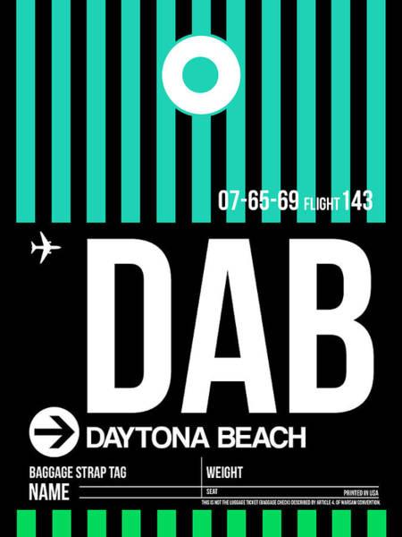 Wall Art - Photograph - Dab Daytona Beach Luggage Tag II by Naxart Studio